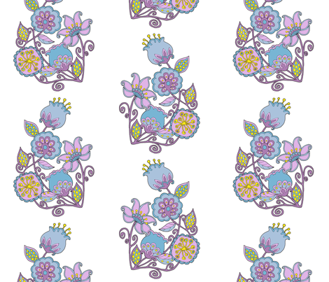 summer flowers single larger fabric by uzumakijo on Spoonflower - custom fabric