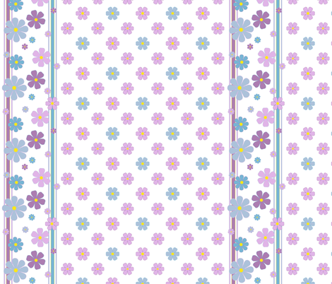 Summer Flowers w/ Border fabric by oranshpeel on Spoonflower - custom fabric