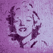 Concrete Marylin in purple