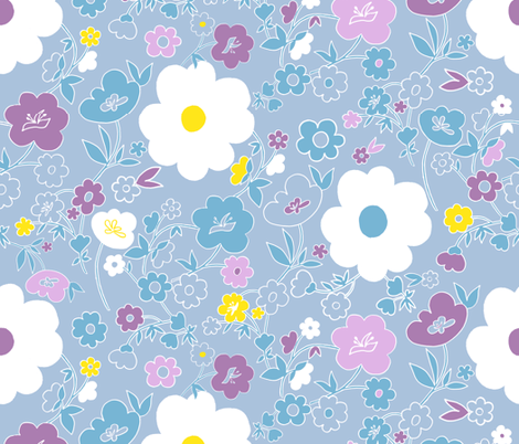LightFlowers fabric by annosch on Spoonflower - custom fabric