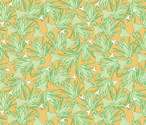 Desert_Nectar_med fabric by jumping_monkeys on Spoonflower - custom fabric