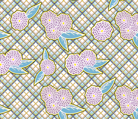 Summer Flowers fabric by feebeedee on Spoonflower - custom fabric