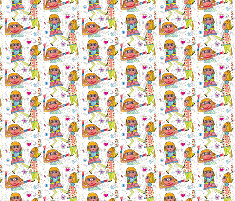 Bobbie Swing-255 fabric by kkitwana on Spoonflower - custom fabric