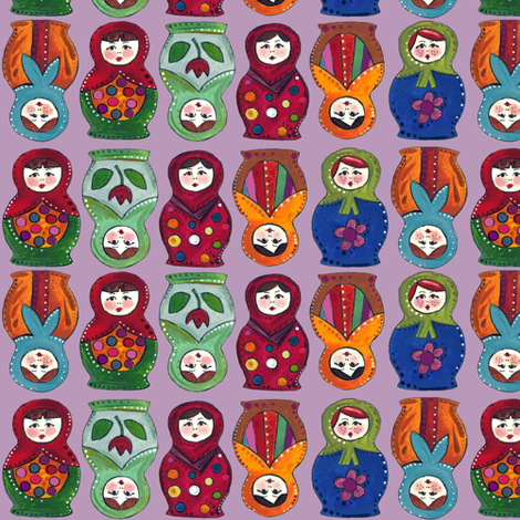 topsy turvy matryoshka fabric by scrummy on Spoonflower - custom fabric