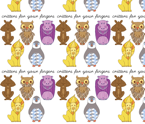 animals_swatch fabric by locamode on Spoonflower - custom fabric