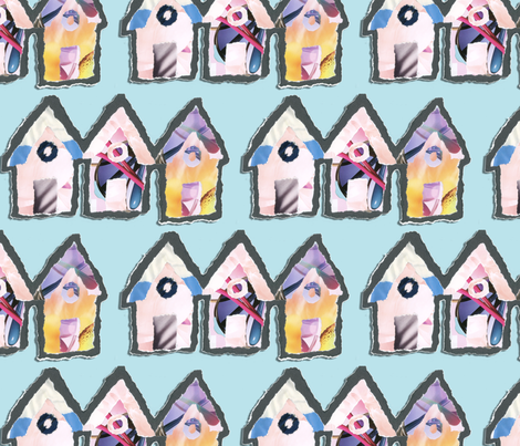 PaperBeachHutPattern fabric by nikgriffiths on Spoonflower - custom fabric