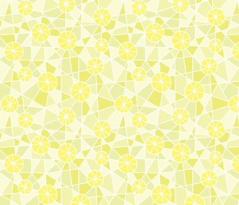 Yellow Wheels fabric by mrsjellyfish on Spoonflower - custom fabric