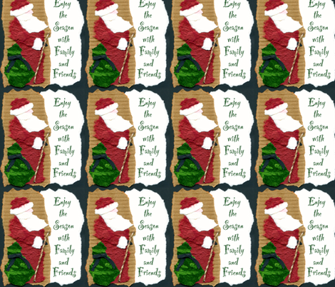 santa5-ed fabric by marney on Spoonflower - custom fabric