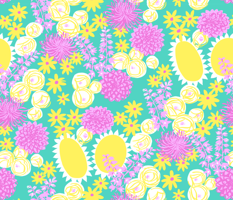 prettyfloral fabric by mrsjellyfish on Spoonflower - custom fabric