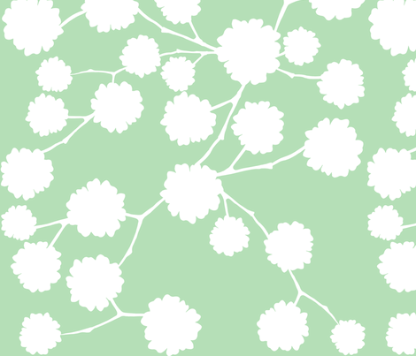 Blossoming - Mint fabric by jiah on Spoonflower - custom fabric