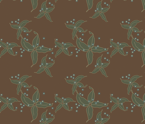 jungle delights earth stars fabric by fiona_mcdonald_juicyapple on Spoonflower - custom fabric