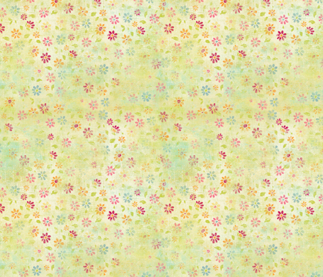SPRINGTIME-FATQUARTER fabric by nancierowejanitz on Spoonflower - custom fabric
