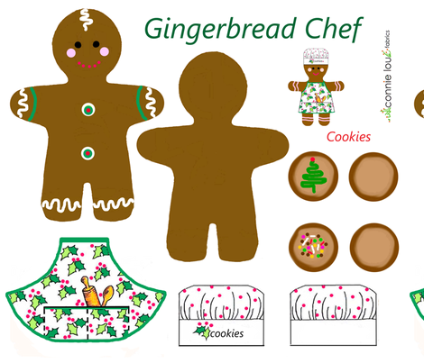 gingerbread chef fabric by connielou on Spoonflower - custom fabric
