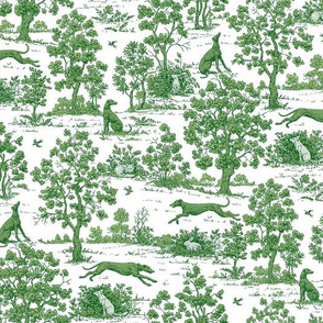 Green Greyhound Toile 2010 by Jane Walker