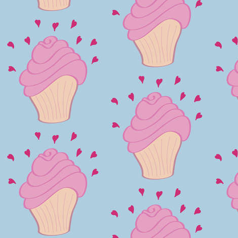 I Love Cupcakes fabric by crowlands on Spoonflower - custom fabric