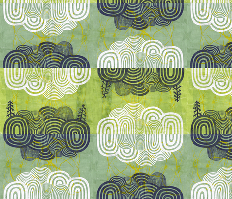 Hillscape fabric by leonielovesyou on Spoonflower - custom fabric