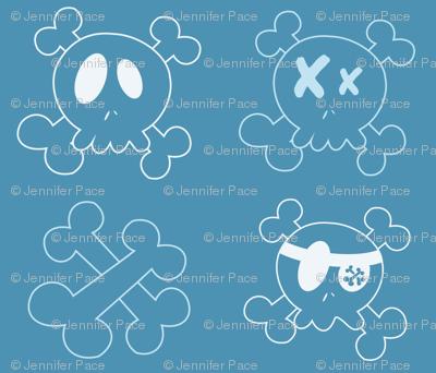 Bigger Blue Skulls