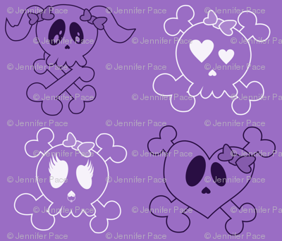 Larger Purple Skulls