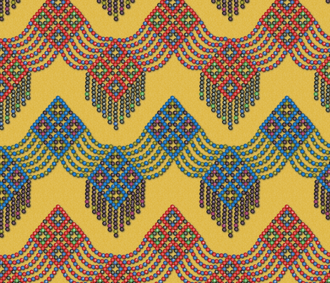 Bedouin Beads fabric by jasmo on Spoonflower - custom fabric