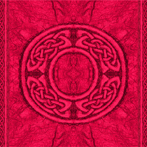 Ancient celtic circle red