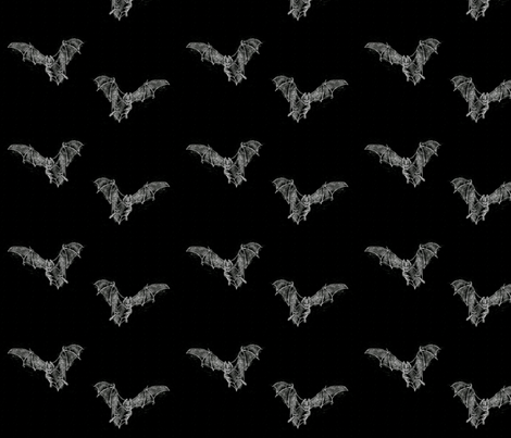 Jim's Bats! (Inverted, fainter) fabric by jenithea on Spoonflower - custom fabric