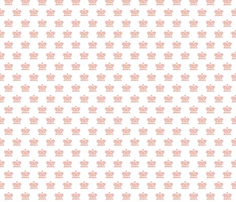 French Script Crown fabric by karenharveycox on Spoonflower - custom fabric