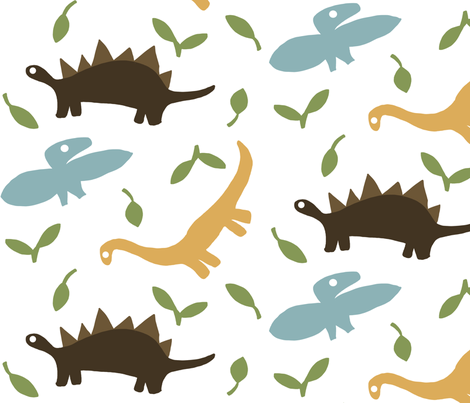 dino fabric by emilyb123 on Spoonflower - custom fabric