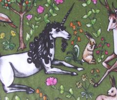 medieval unicorn garden