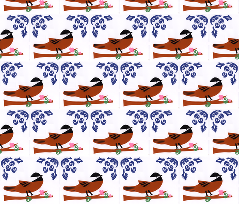 Chicka-Dee-Dee-Dee  fabric by owlandchickadee on Spoonflower - custom fabric