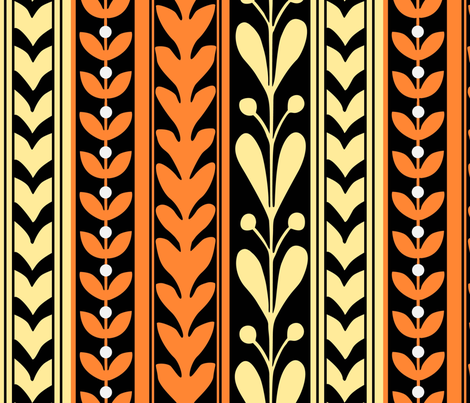 orange_daniel_stripey_geometrics fabric by awitsell on Spoonflower - custom fabric