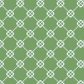 Quatrefoil And Dots in Sage