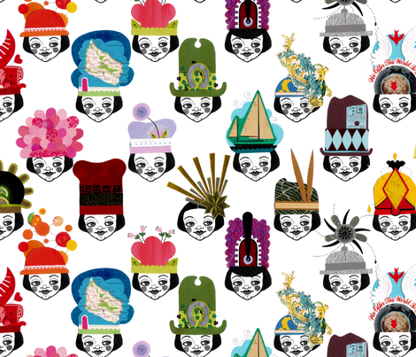 loosetooth_fancyhats fabric by loosetooth on Spoonflower - custom fabric