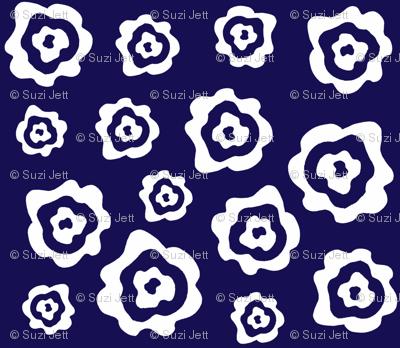 Flower Power - Blue & White