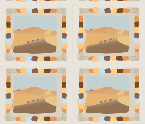 desert fabric by socreate_uk on Spoonflower - custom fabric