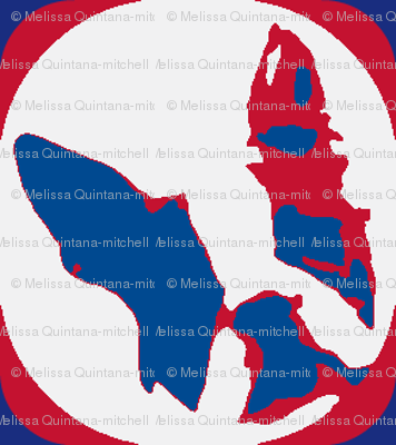 Boston Terrier Americana -Half drop