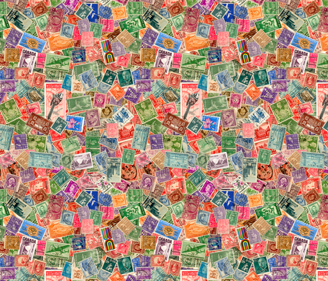 Stamps fabric by koalalady on Spoonflower - custom fabric