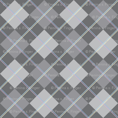 Argyle: Gray and Double Pastels