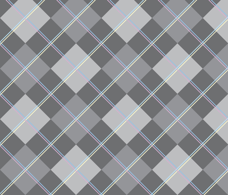 Argyle: Gray and Double Pastels fabric by penina on Spoonflower - custom fabric