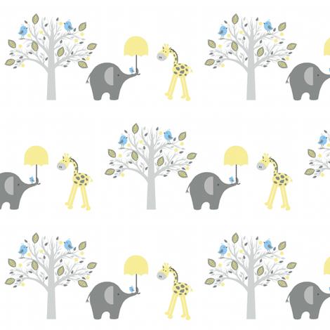 Happy chat friends / giraffe fabric by paragonstudios on Spoonflower - custom fabric