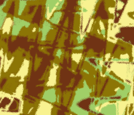 Abstract in bright green and brown fabric by cricketnoel on Spoonflower - custom fabric