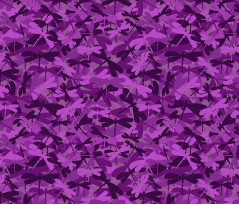 Dragonflyge - dark purple fabric by uzumakijo on Spoonflower - custom fabric