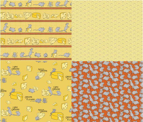 I Like Cheese 4in1 fabric by jmckinniss on Spoonflower - custom fabric