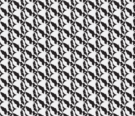 B & W Boston Half Drop fabric by missyq on Spoonflower - custom fabric