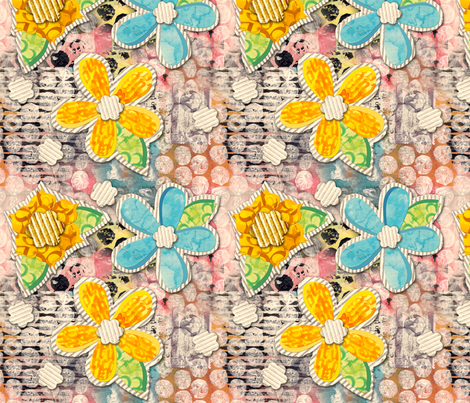 PaperFlowerPower fabric by tammikins on Spoonflower - custom fabric