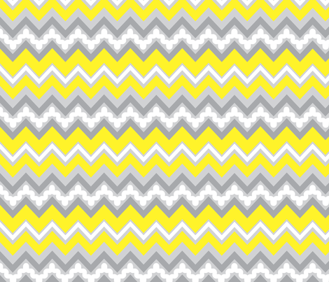 zigzag fabric by cottageindustrialist on Spoonflower - custom fabric