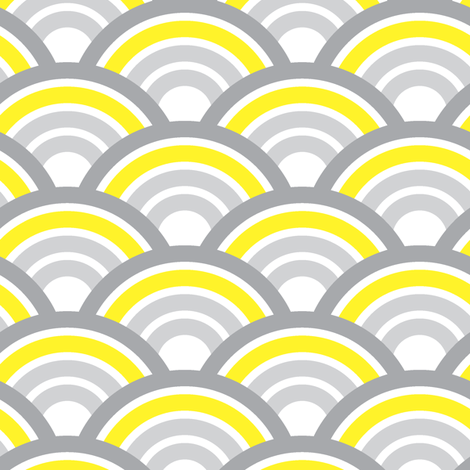 scallops fabric by cottageindustrialist on Spoonflower - custom fabric