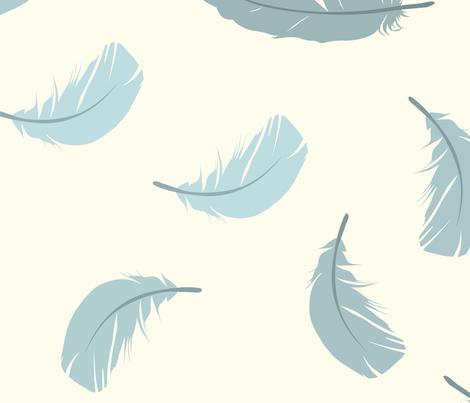 feathr fabric by rikkib on Spoonflower - custom fabric