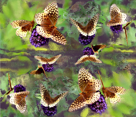 Butterfly - Bush fabric by rubyrice on Spoonflower - custom fabric