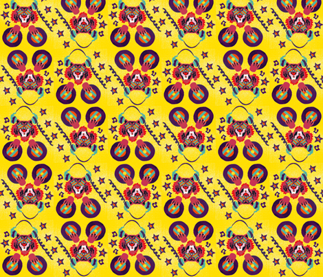 Wicky-Wicky-Roar!! fabric by ms_sad on Spoonflower - custom fabric