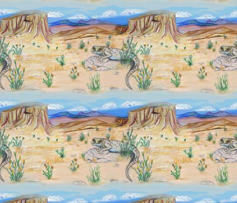 Desert landscape fabric by cytel on Spoonflower - custom fabric